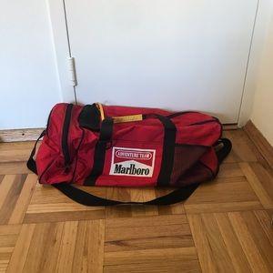 Vintage Marlboro team adventure duffel bag